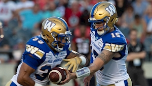 Blue Bombers beat Redblacks despite losing starting QB Matt Nichols