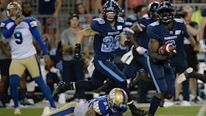 Argonauts rally for comeback win over Blue Bombers, end six-game slide