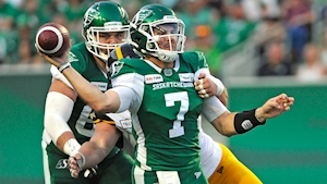 Cody Fajardo runs in winning TD as Roughriders beat Tiger-Cats