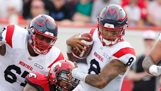 Vernon Adams Jr., Montreal Alouettes come from behind to beat Calgary Stampeders in overtime