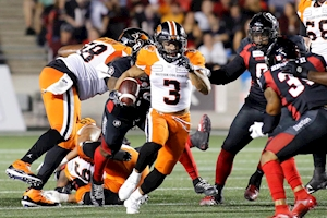 Reilly throws for 353 yards as Lions rout Redblacks 40-7