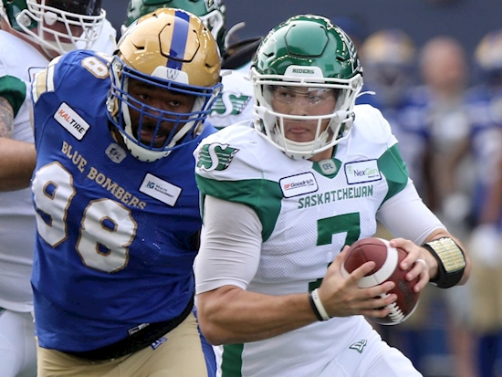 Blue Bombers thump Riders 35-10 in Banjo Bowl