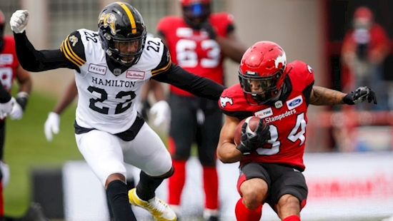 Stamps Defeat Ticats to Win Third Straight