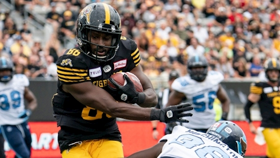 Tiger-Cats wide receiver Bralon Addison has knack for coming up big against Argonauts