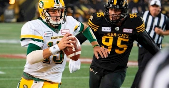 Edmonton Eskimos hope to lock up playoff berth and eliminate BC Lions