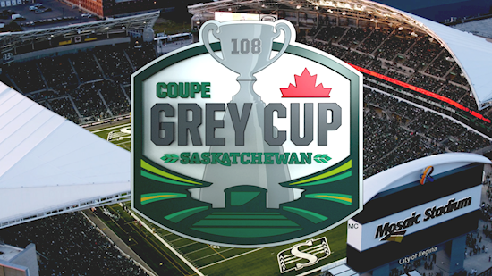 Riders, CFL unveil 2020 Grey Cup logo