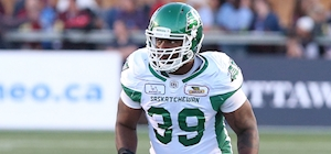 Riders modestly reward CFL sack leader Charleston Hughes while he considers early retirement