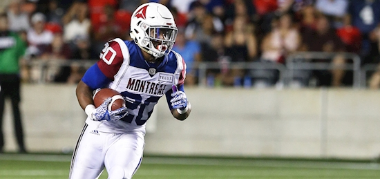 Alouettes repatriate veteran running back Tyrell Sutton