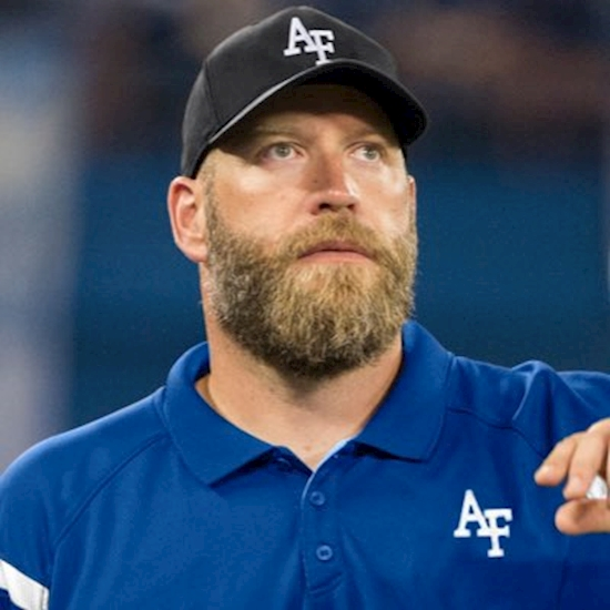 Former CFL coach Jonathan Himebauch joins Air Force staff